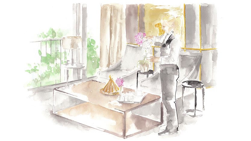 The St. Regis Istanbul Afternoon Tea Illustration