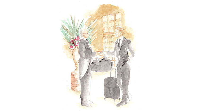 The St. Regis Istanbul Butler Welcome Illustration