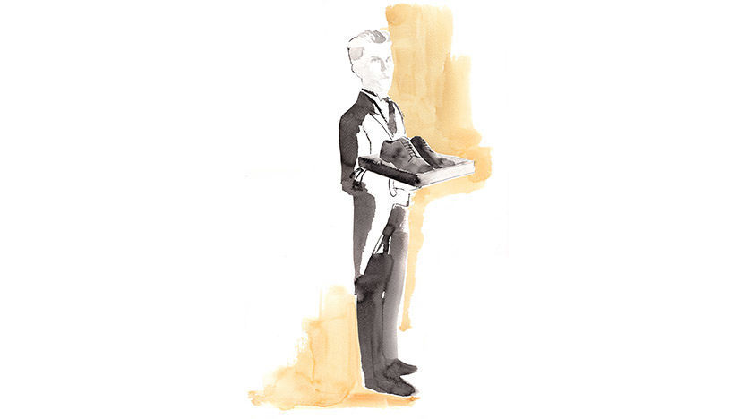 The St. Regis Istanbul Shoe Shine Illustration